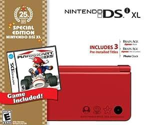 Nintendo DSi XL Red Bundle with Mario Kart