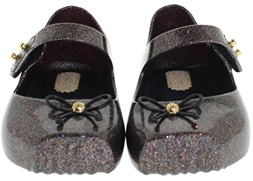 K2 Brands Cute Bow Black Mary Jane Jelly Ballet Flats For Toddler Girls, Kids Shoes Size 6