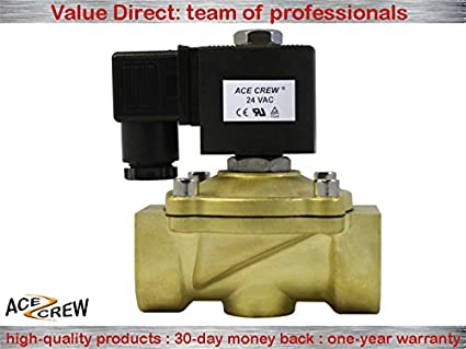 1//2 inch NORMALLY OPEN 24V AC VAC Brass Solenoid Valve NPT ONE-YEAR WARRANTY