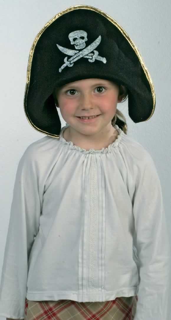 Jouetprive-Déguisement pour enfant du chapeau de pirate Jack