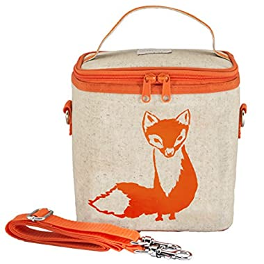 SoYoung Orange Fox Large Cooler Bag, Raw Linen