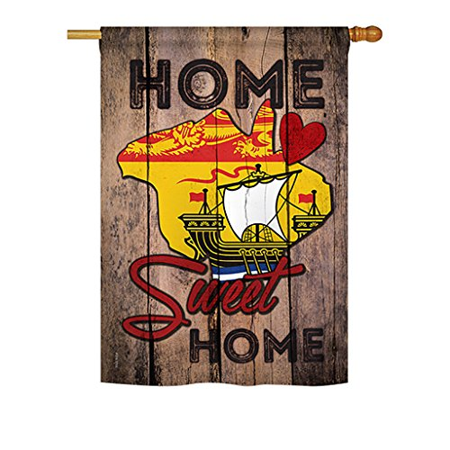 Canada Provinces New Brunswick Home Sweet Home - Flags of the World Nationality Decoration - 28