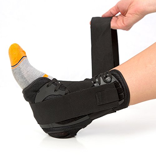 #1 Laced Ankle Brace With Stabilizing Strap For Flexible Support. Breathable Neoprene Braces Made By Product Stop. (Large)