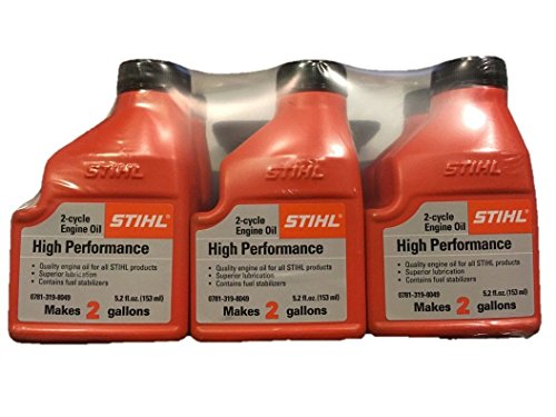 (STIHL High Performance 2-Cycle Engine Oil 6-Pack of 5.2 fl. oz. Bottles)
