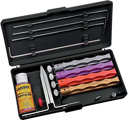 Lansky 4 Stone Deluxe Diamond Knife Sharpening Kit