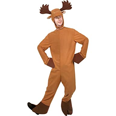 Moose Adult Costume  sc 1 st  Amazon.com : adult reindeer costumes  - Germanpascual.Com