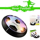 Hover Soccer Ball, WINGLESCOUT Toys for Boys Air Power Soccer Disk Toys with Fluctuant LED Lights and Foam Bumpers Floating Football Indoor/ Outdoor for Girls and Boys (Mini Screwdriver Included)