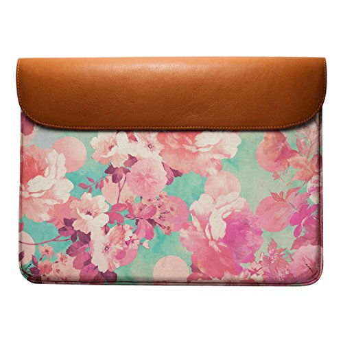 13 Floral Macbook DailyObjects Air Envelope Leather Real For Polka Pro Retro Dots Romantic Teal Sleeve Pink Pattern gq6q1taw