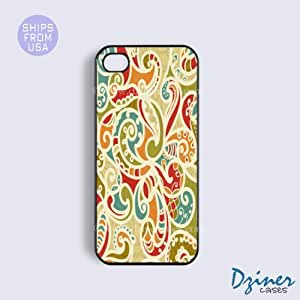 iPhone 5 5s Case - Colorful Paisley iPhone Cover by icecream design