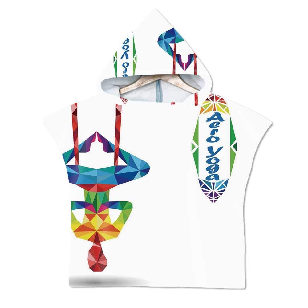 Amazon.com: Yoga Soft Hooded Beach Bath Towel,Aerial Aero ...
