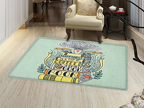 Book Bath Mats for floors Quote for Happiness