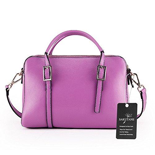 Pelle Basic Turquoise Top Handle In Cinghia turquoise Classico Donna Da Purple Per Vera Sakutane blu Borse Hbbb0018 Lavoro Con q6IBYn
