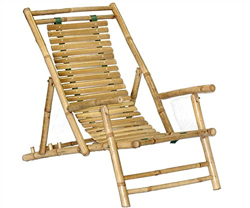 Bamboo Recliner Chair [Set of 2] Bamboo Reclining Recliner