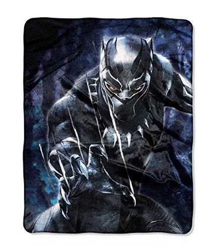 Marvel Black Panther Plush Throw Blanket – 40″ x 50″
