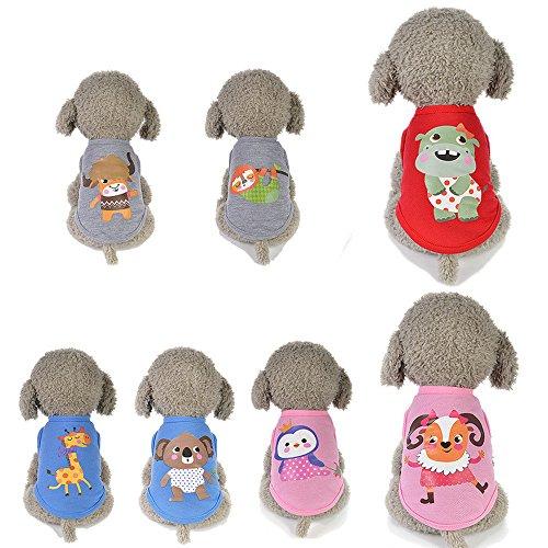 Outtop(TM) Dogs Vest Pet Small Milk Dog Puppy Animals Cartoon Vests Clothes Costumes (XXXS, F)]()