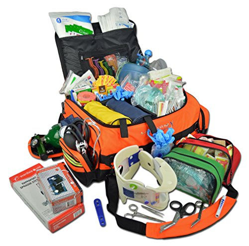 Lightning X Jumbo Medic First Responder EMT Trauma Bag Stocked First Aid Trauma Fill Kit D (Lightning Shoulder Pads)