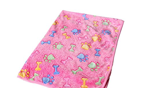 Warm Pet Mat Bone Print Cat Dog Puppy Fleece Soft Blanket Bed Cushion Middle
