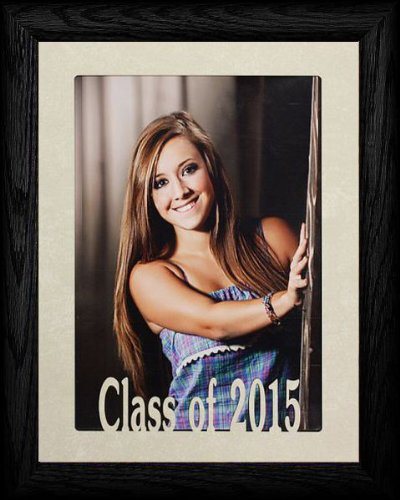 5x7 Jumbo Class of 2015 Portrait Senior/Graduate School Picture/Photo Keepsake Frame ~ BLACK - Graduation Gifts 2010