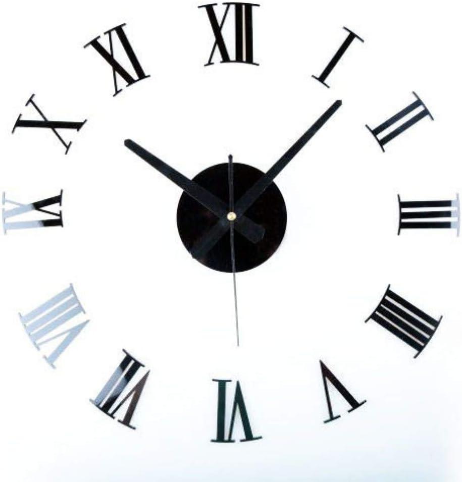 Mmlzlz 3d Wall Clock Three Dimensional Diy Digital Wall Clock Combination Wall Clock Diy Wall Sticker Clock Home Kitchen