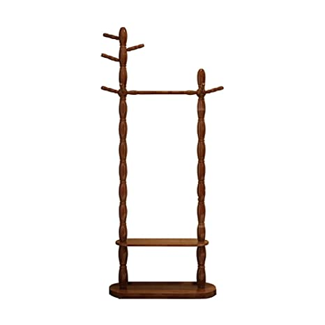 Amazon.com: ZHILIAN - Perchero de madera maciza con forma de ...