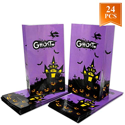 WEEPA Halloween Party Favor Bags Halloween Party Gift Bags 24 Packs -