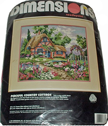 nt Kit Peaceful Country Cottage 2388 By Barbara Mock 1991 (Cottage Needlepoint)