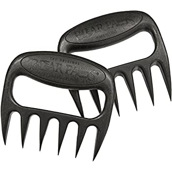 The Original Bear Paws Shredder Claws - Easily Lift, Handle, Shred, and Cut Meats - Essential for BBQ Pros - Ultra-Sharp Blades and Heat Resistant Nylon