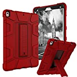 iPad Pro 10.5 Case, Dake 3-Layer Kickstand Defender Heavy Duty Shockproof Full-body Protective Case for Apple iPad Pro 10.5 inch 2017 Release Red