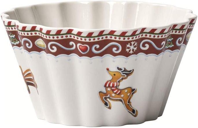 Rosso//Multicolore 630 ml Villeroy /& Boch Winter Bakery Delight Ciotola Motivo Pan di Zenzero