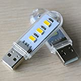USB LED Book Lights Lamps Camping Lamp for PC Laptops Mobile Power Charger Reading Bulb Night Light(White)