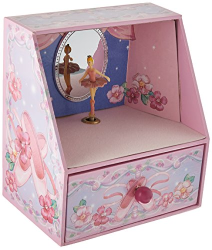 Ballerina Theater Pink and Purple Turning Ballerina Musical Jewelry Box - Plays Waltz of Brahms (Ballerina Purple Jewelry Box)
