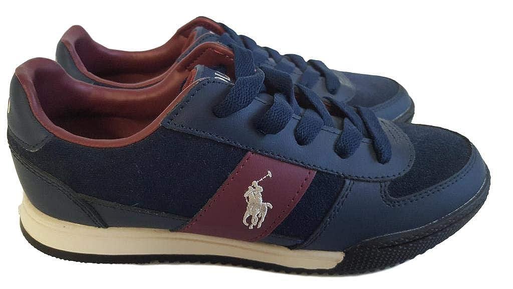 POLO-RALPH LAUREN - Zapatillas de Cuero para niño Azul Turquesa 35 ...