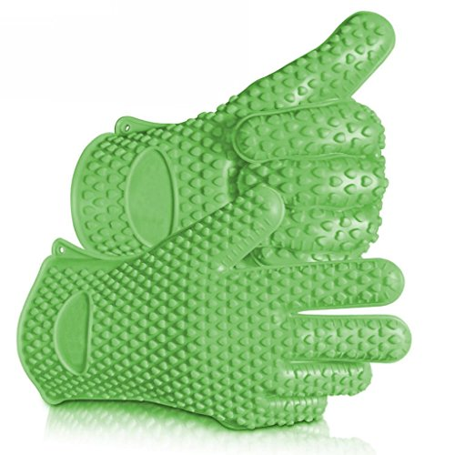 Highly Rated Silicone BBQ Gloves - Perfect For Use As (Ncaa Grill Glove)