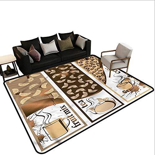 Coffee,Polyester Non-Slip Doormat Rugs 60