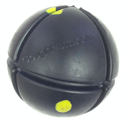 (Goughnuts - Interactive Chew Toy for Dogs - Ball Black 50 (Toughest)