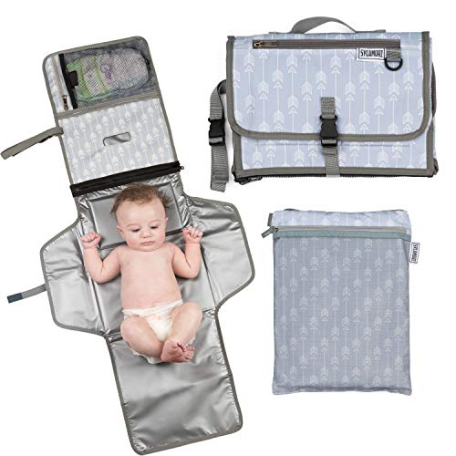 d Extra Large | Baby Changing Pad | Travel Diaper Changing Pad | Foldable Baby Changing Station | Bonus Wet-Dry Bag | Portable Changing Mat | Long XL | Cushioned Waterproof Pad ()