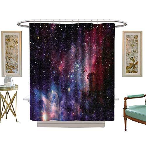 luvoluxhome Shower Curtain Collection by Image de la nébuleuse de Carina en lumière infrarouge W48 x L72 Custom Made Shower Curtain