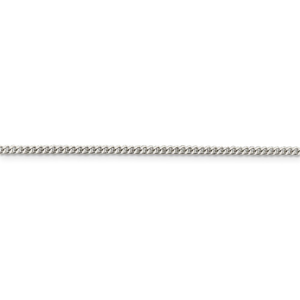 Solid 925 Sterling Silver 2mm Curb Link Cuban Chain
