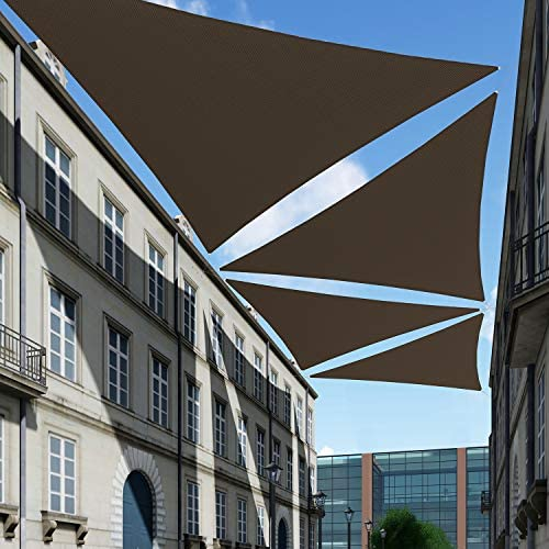 TANG Sunshades Depot 6'x6'x6' Brown Sun Shade Sail 180 GSM HDPE Equilateral Triangle Permeable Canopy Custom Commercial Standard