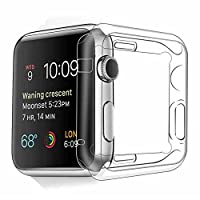 Apple Watch Case, Fivefish iWatch Built-In Screen Protector Ultra-Thin Full Coverage All-around Extreme Protective Premium Clear TPU Soft Cover for Apple i Watch All Models 2015 Release - 38mm