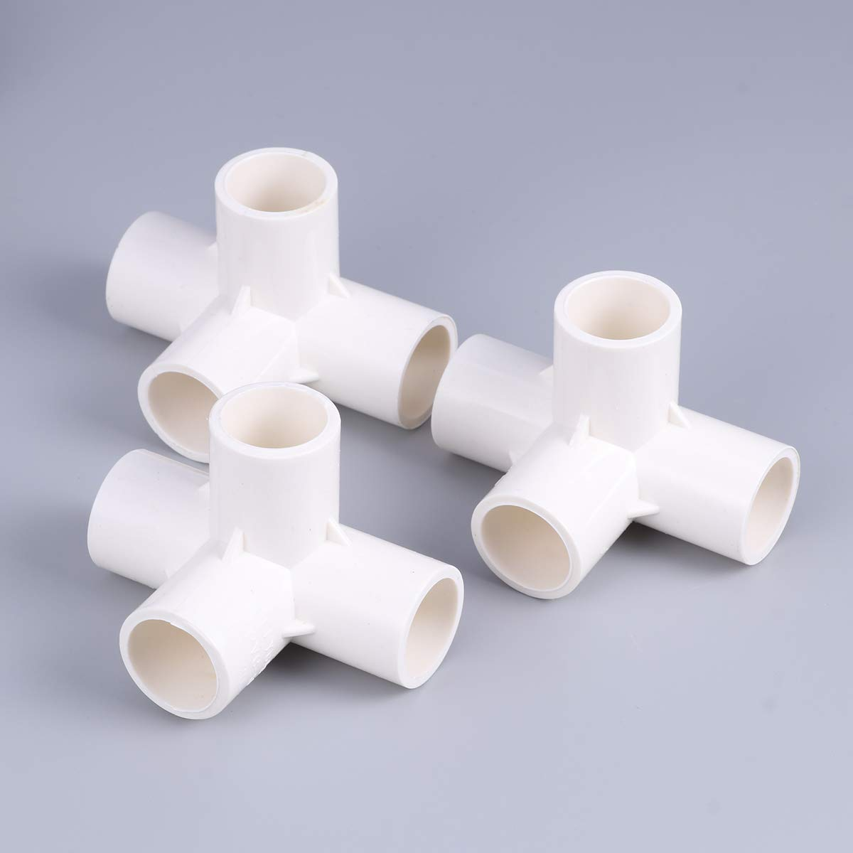 Blanco Yardwe 10PCS Conector de adaptador de tubo de tuber/ía de agua de conexi/ón de PVC de 4 v/ías