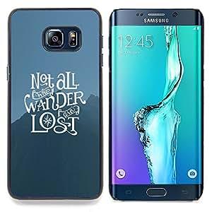 SKCASE Center / Funda Carcasa protectora - Tipografía Perdido;;;;;;;; - Samsung Galaxy S6 Edge Plus / S6 Edge+ G928