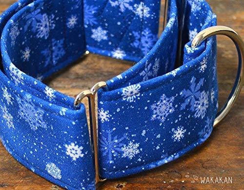 Collar Martingale Para Perro: Snowflakes, Hecho a Mano en España ...