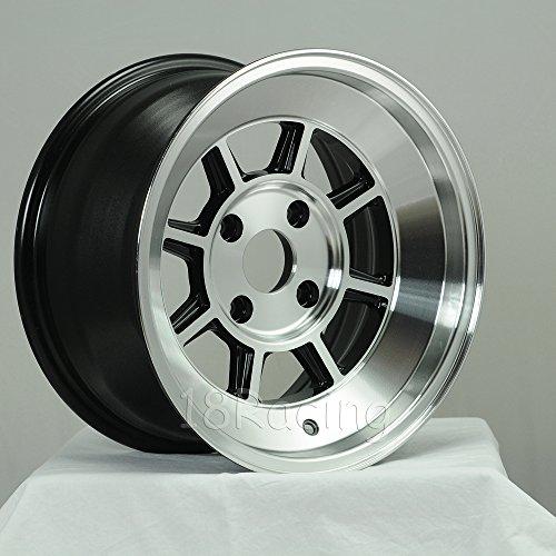 4 PCS ROTA SHAKOTAN WHEELS 15X8 PCD:4X100 OFFSET: 0 HB:67.1 FULL POLISH BLACK - Wheel Rota