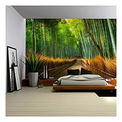 Wall26 - Mural of a Pathway in a Bamboo Forest - Wall Mural, Removable Sticker, Home Decor - 66x96 inches