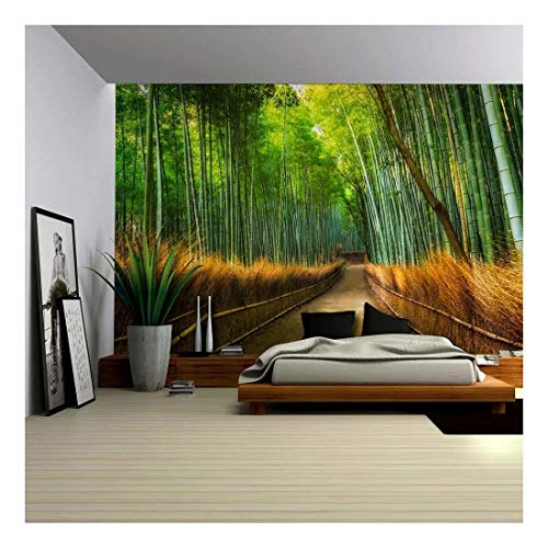 Mural of a Pathway in a Bamboo Forest Wall Mural