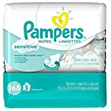 Pampers Sensitive Wipes 3x Travel Pack, 168-Count- Packaging May Vary