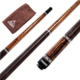 CUESOUL 58 inch Luxury Pool Cue 19 oz with Cue Joint Protector + Cue Towel