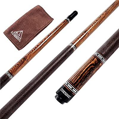 Image of CUESOUL 58 inch Luxury Pool Cue 19 oz with Cue Joint Protector + Cue Towel Cue Sticks & Accessories