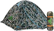 RioRand Double Layer 2 Person 4 Season Aluminum Rod Outdoor Camping Tent Topwind 2 Plus with Snow Skirt